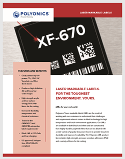 download the laser markable label brochure